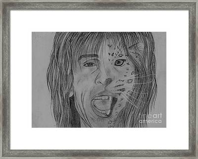 Framed Print featuring the drawing Steventylopard by Jeepee Aero