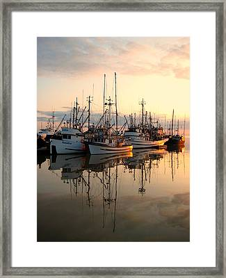 Steveston Harbour Framed Print by Shirley Sirois