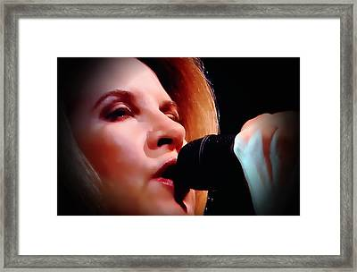 Stevie   Watercolor Framed Print by John Delong