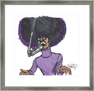 Stevie Afro Framed Print by SKIP Smith