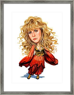 Stevie Nicks Framed Print by Art