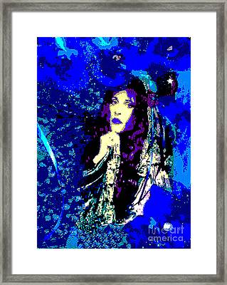 Stevie Nicks In Blue Framed Print