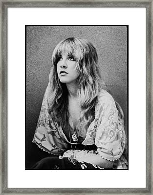 Stevie Nicks Framed Print by Georgia Fowler