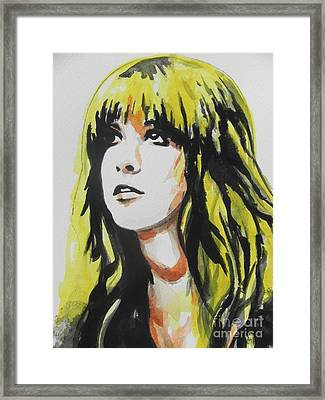 Stevie Nicks 01 Framed Print by Chrisann Ellis