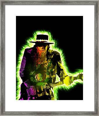 Stevie Ray Vaughan Framed Print by Michael Lee