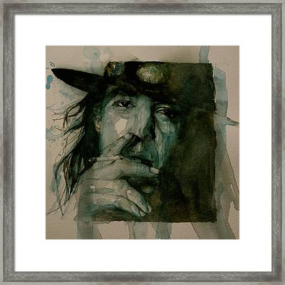 Stevie Ray Vaughan Framed Print by Paul Lovering