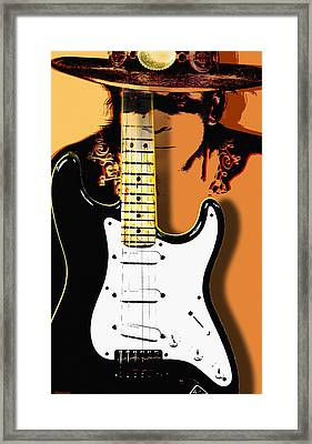 Stevie Ray Vaughan Framed Print by Larry Butterworth