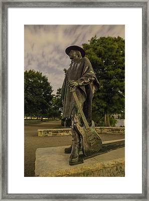 Stevie Ray Vaughn Statue In Austin Tx Framed Print