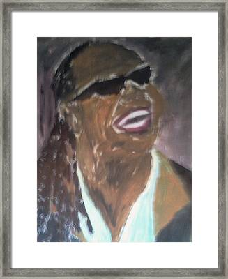 Stevie Wonder 1 Framed Print by Christy Saunders Church