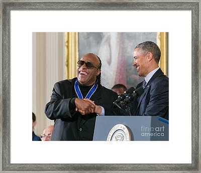 Stevie Wonder - Medal Of Freedom Framed Print by Ava Reaves