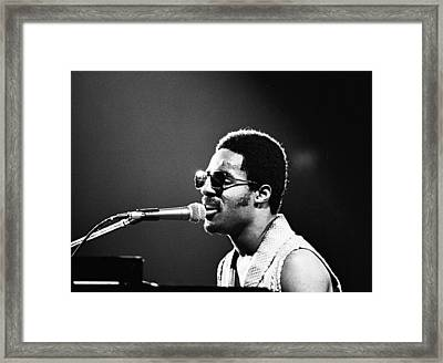 Stevie Wonder - Piano Man Framed Print