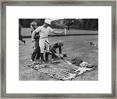 Stewart Picks Polo Stick Framed Print