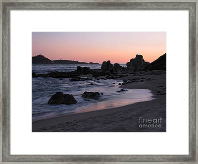 Stewart's Cove At Sunset Framed Print