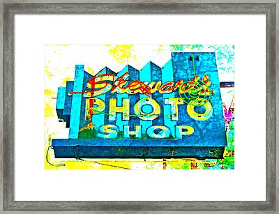 Stewart's Photo Shop Framed Print by Gail Lawnicki
