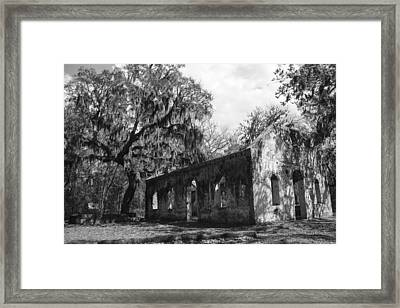 St.helena Chapel Of Ease Bw 1 Framed Print by Steven  Taylor