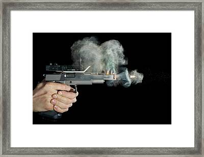 Sti Edge Pistol Shot Framed Print