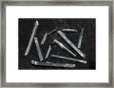 Stibnite I Framed Print by Dirk Wiersma