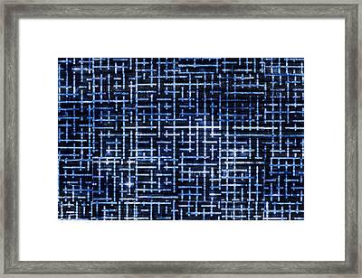 Stick Labyrinth Framed Print by Hakon Soreide