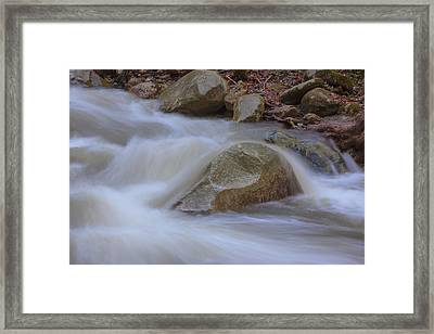 Stickney Brook Rock Framed Print by Tom Singleton