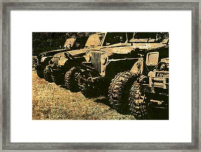 Sticks And Stones ... Won't Break My Bones Framed Print by Luke Moore