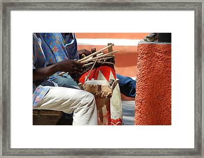 Sticks And Tones Framed Print by David Coleman