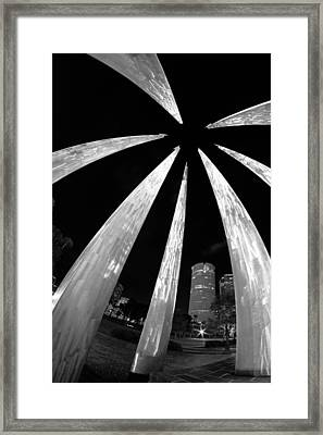 Framed Print featuring the photograph Sticks Of Fire At University Of Tampa by Daniel Woodrum