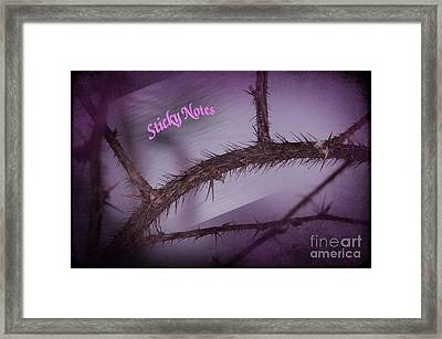 Sticky Notes Framed Print by The Stone Age