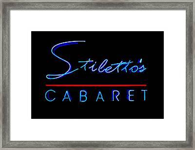 Stiletto's Cabaret Framed Print by Sennie Pierson