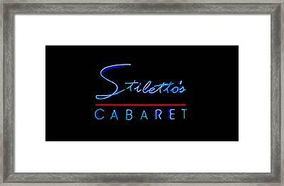 Stiletto's Cabaret Too Framed Print by Sennie Pierson