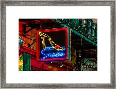 Stilettos On Bourbon Street Nola Framed Print