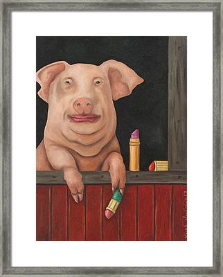 Still A Pig Framed Print by Leah Saulnier The Painting Maniac