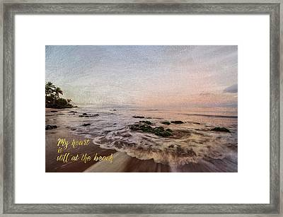 Still At The Beach Framed Print by Ramona Murdock