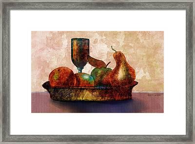 Still Fife - Fruit And Glass Framed Print