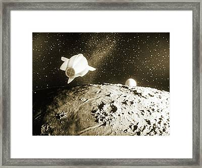 Still From 'spaceship One Launched' Framed Print by Detlev Van Ravenswaay