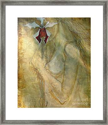 Framed Print featuring the painting Still Hiding by Delona Seserman