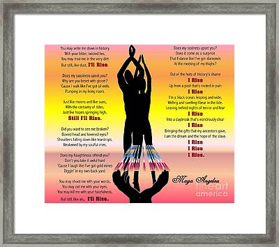 Still I Rise No2 Framed Print