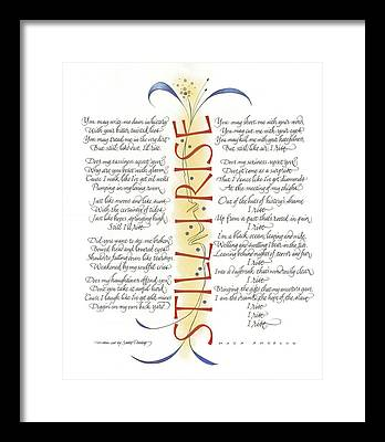 Calligraphy Framed Prints