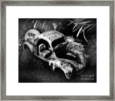 Still In The Trunk And Written In Stone Framed Print