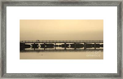 Framed Print featuring the photograph Still Lake by Clare Bevan
