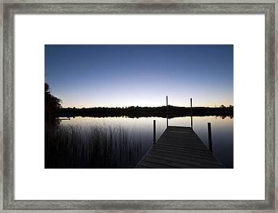 Still Lake Framed Print