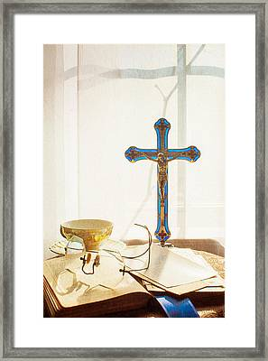 Still Life - Crossed Shadows Framed Print