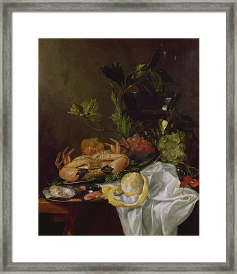 Still Life, 17th Century Framed Print by Pieter de Ring
