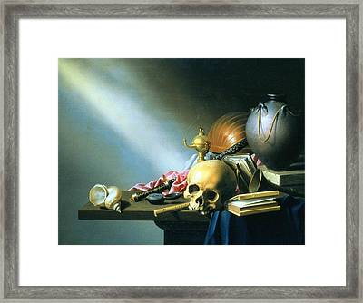 Still Life An Allegory Of The Vanities Of Human Life Framed Print by Harmen van Steenwyck
