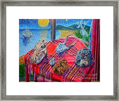 Framed Print featuring the painting Still Life And ...pirats by Viktor Lazarev