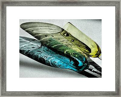 Still Life And Shadows In Blue And Gold Framed Print by Bruce Carpenter