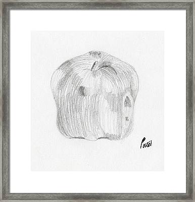 Still Life - Apple Framed Print by Bav Patel