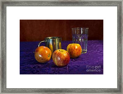 Still Life Apples Framed Print
