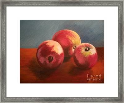Still Life Apples Framed Print