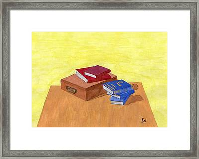 Still Life - Books Framed Print by Bav Patel