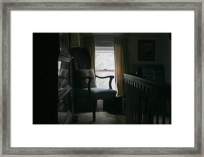 Still Life Chair By Window Framed Print by Paula Tohline Calhoun